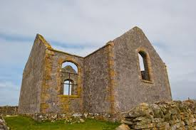 The derelict Telford Parliamentary Church on Berneray