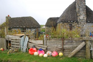 Some of Howmore's Thatched Buildings