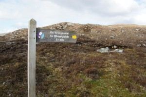 Signpost to Rhenigidale