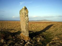 Cladh Maolrithe - standing stone or menhir on Berneray