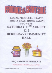Berneray Bric a Brac sale Aug 2013