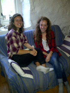 Erin & Julia (Oberlin College) at Rhenigidale Gatliff Hostel SYHA