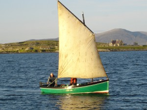 In Own Boat in Open Sea Off Berneray