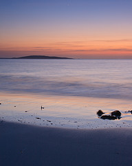 Dusk at Berneray looking towards Boreray