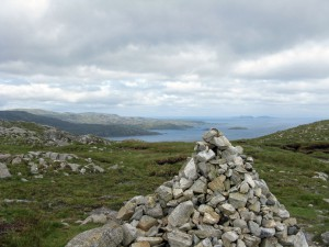 The Summit on the Urgha - Rhenigidale Path