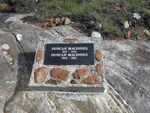 Memorial to Two MacInnes Family Members