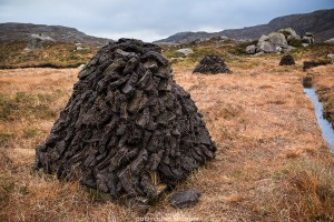Peat Cutting on the Isle of Harris