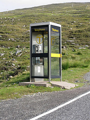 Telephone on the Rhenigidale Road