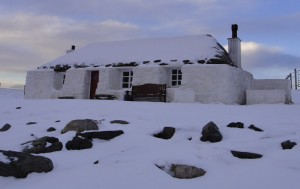 Berneray hostel in the winter. With thanks to a photographer from the Stornoway Canoe Club